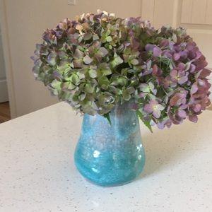Handmade Turquoise Pottery Vase
